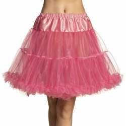 Roze petticoat jurkje goedkoop voor dames 45 cm