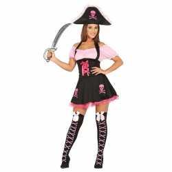 Roze piraten verkleedjurkje goedkoop voor dames