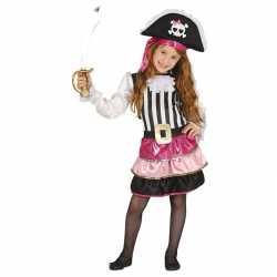 Roze piraten verkleedjurkje goedkoop voor meisjes