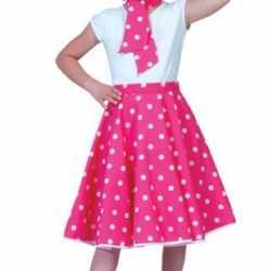 Roze rock n roll jurkje goedkoop stippen goedkoop voor meisjes