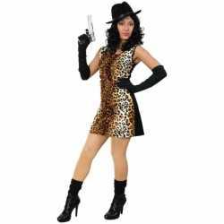 Sexy tijgerprint jurkje goedkoop voor dames