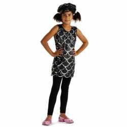 Zwart glitter pailletten jurkje goedkoop voor meisjes