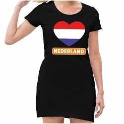 Zwart nederland goedkoop rood wit blauw hart jurkje dames