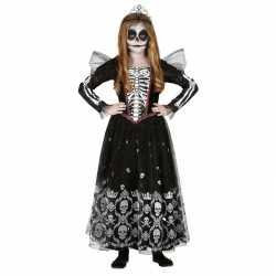 Zwart/witte skelet verkleedjurkje goedkoop tule goedkoop voor meisjes