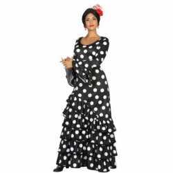 Zwarte Spaanse jurkje goedkoop stippen